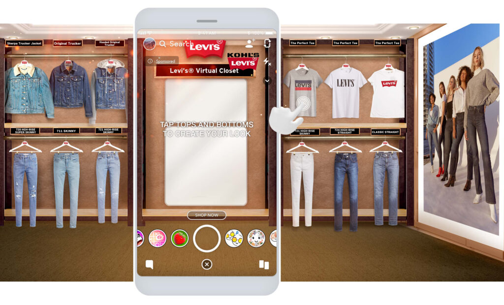 KOHLS-LEVIS-BTS_HERO augmented reality ar e commerce genius ventures