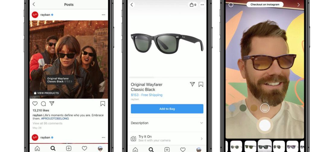 ray ban augmented reality ar advertising marketing genius ventures inc instagram
